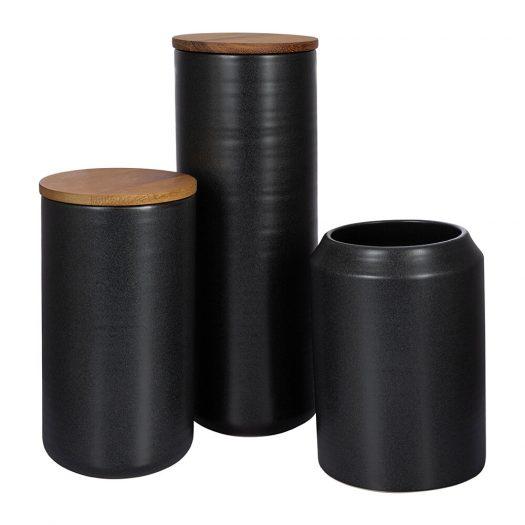 Matt Black Storage Pot – Small