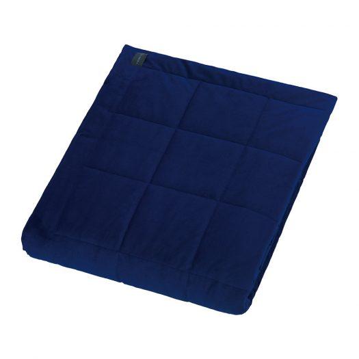 Square Velvet Bedspread - Royal Blue - 240x200cm