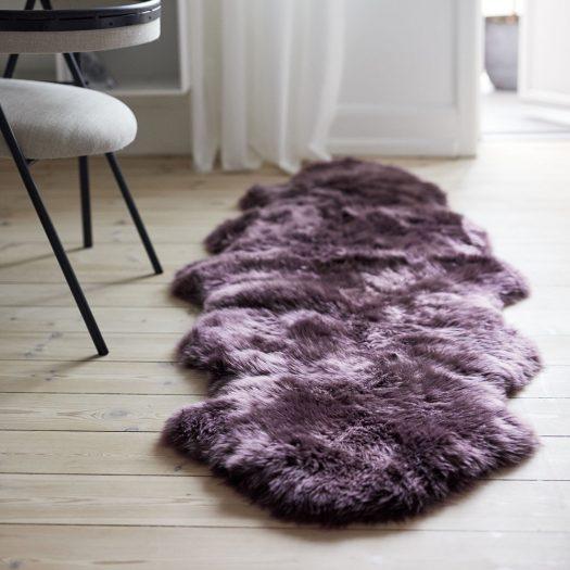 New Zealand Sheepskin Rug – 180x60cm – Aubergine