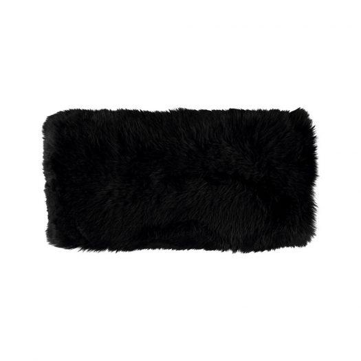 New Zealand Sheepskin Cushion - 28x56cm - Black