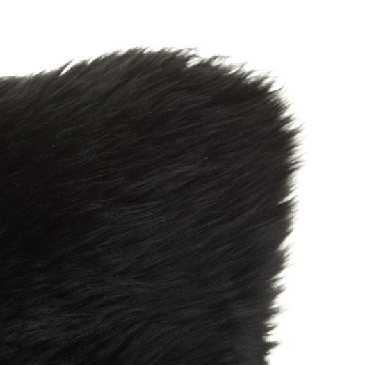 New Zealand Sheepskin Cushion – 28x56cm – Black