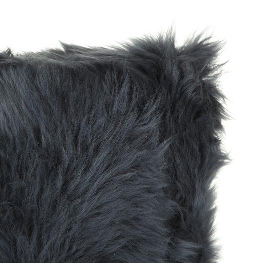 New Zealand Sheepskin Cushion – 28x56cm – Navy