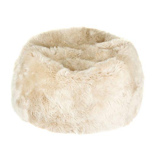 New Zealand Sheepskin Bean Bag - Linen