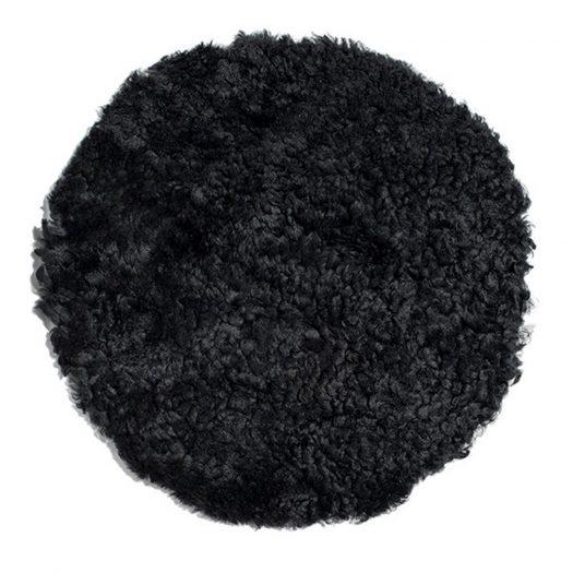 New Zealand Sheepskin Seat Pad - Short Wool Curly - Black