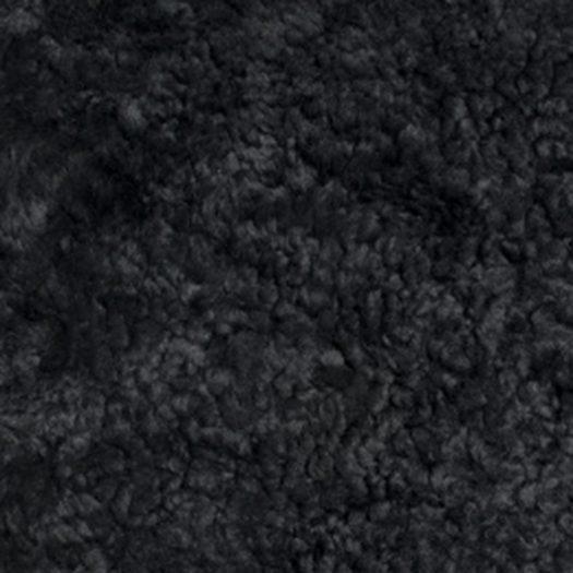New Zealand Sheepskin Seat Pad – Short Wool Curly – Black