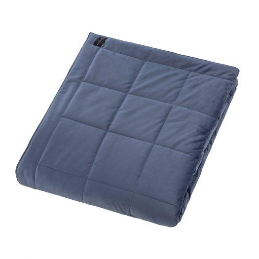 Square Velvet Bedspread - Night - 240x200cm