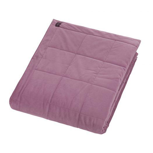 Square Velvet Bedspread - Lilac - 240x200cm