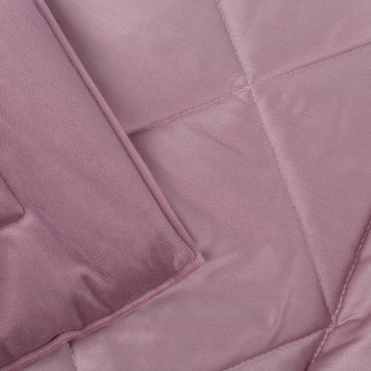 Square Velvet Bedspread – Lilac – 240x200cm