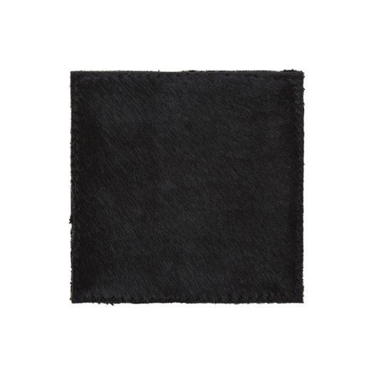 Cowhide Coasters - Set of 4 - Black