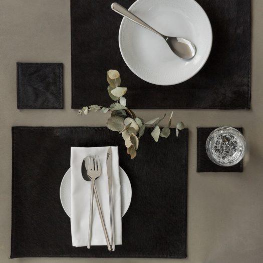 Cowhide Coasters – Set of 4 – Black