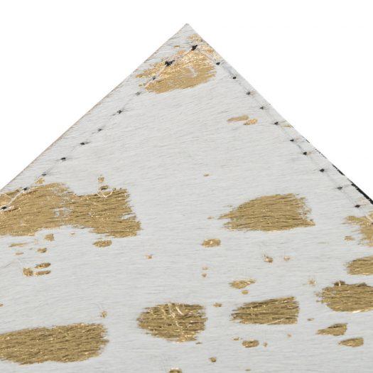 Metallic Acid Cowhide Coasters – Set of 4 – Gold