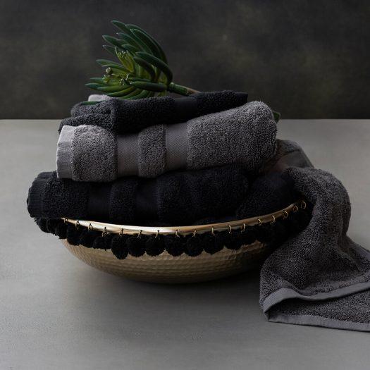 Pima Towel – Black – Bath Sheet