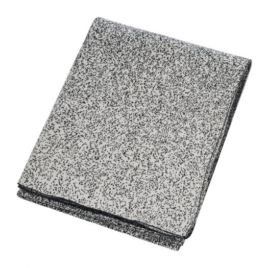 Speckled Knitted Throw - Black/White