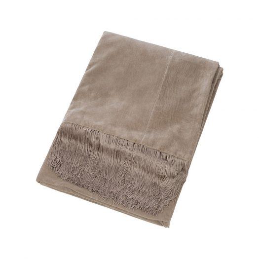 Velvet Tassel Fringe Throw - 130x170cm - Gold