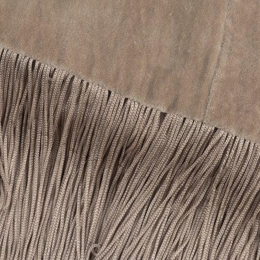 Velvet Tassel Fringe Throw – 130x170cm – Gold