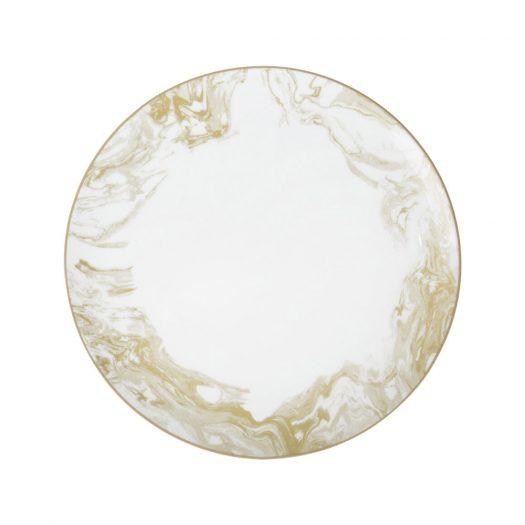 Gunnison Porcelain Dinner Plate – Set of 4 - Gold