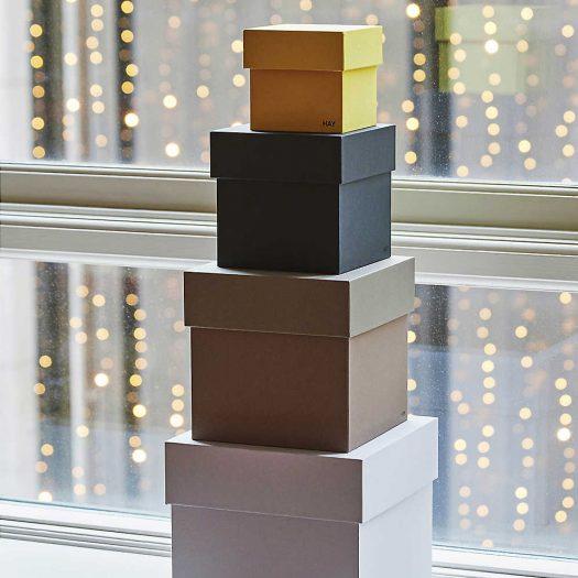 Box Cardboard Storage Boxes Set of Four
