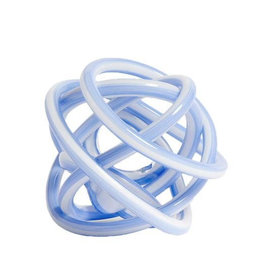 Glass Knot Ornament 9cm