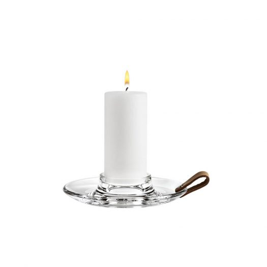 Holmegaard – Design With Light Block Candle Holder with Leather Strap
