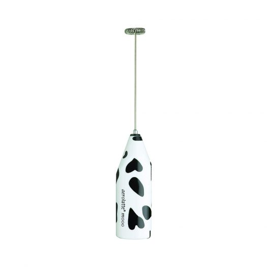 Moo Milk Frother with Travel Case, Cow Print