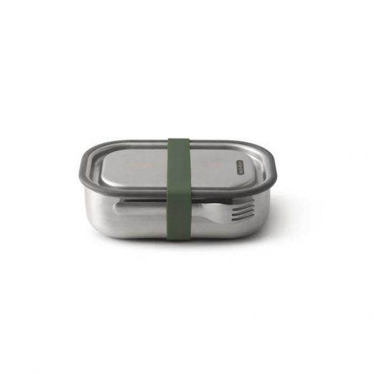 Lunch Box, Stainless Steel, Olive,1L