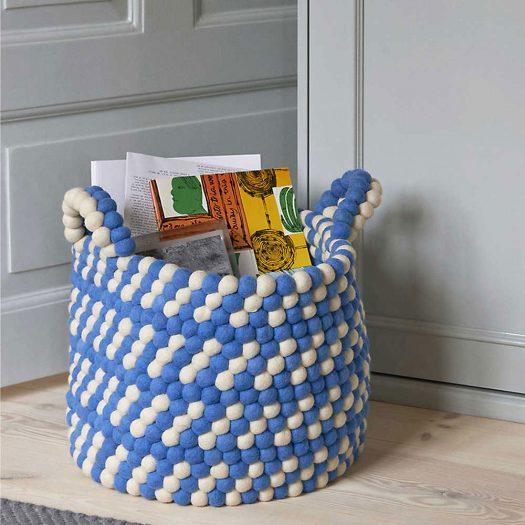 Beaded Wool Basket 40cm