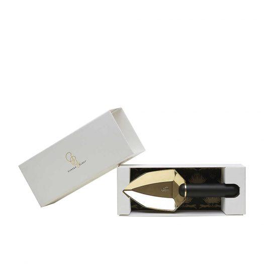 Diamond Oynx Brass Garden Spade 23cm