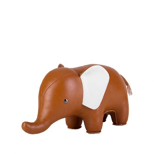 Elephant Leather Bookend 30cm
