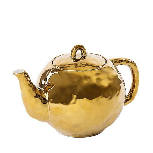 Fingers Gold-toned Porcelain Teapot 15cm x 23.8cm