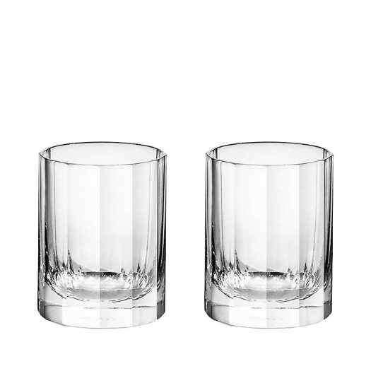 Fluted Crystal Shot Glasses Set of Two