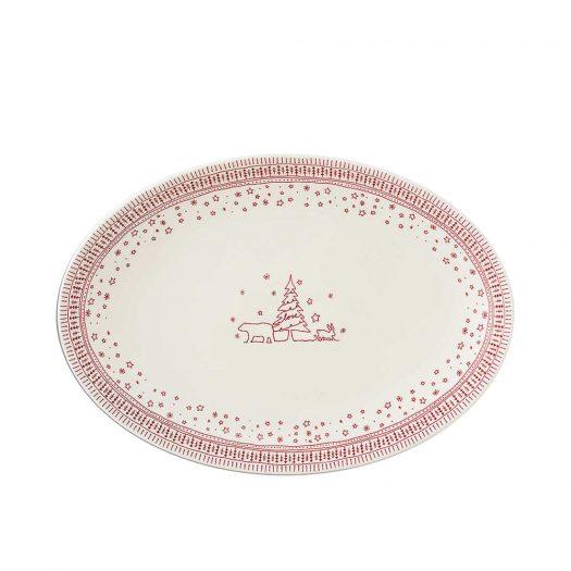 Holiday Oval Platter - Ellen DeGeneres