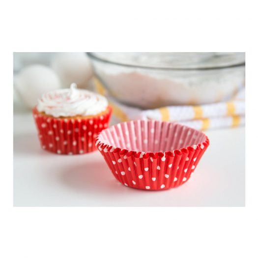 Red Dots Baking Cups, Std. size