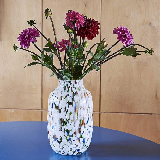 Splash Swirl-pattern Glass Vase 27cm