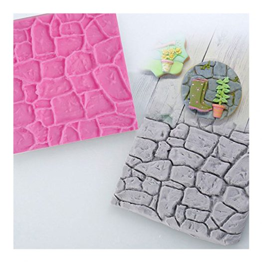 Stone/Wood Silicone Texture Mat, 2-Piece Set