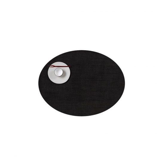 Mini Basketweave Oval 36 x 49 cm, Espresso