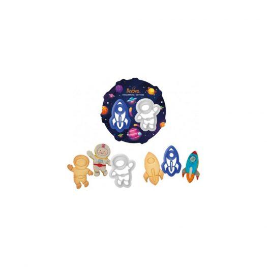 Space Cookie Cutter Set, 2Pcs