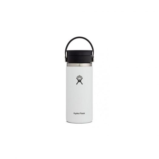 Vacuum Bottle with Wide Mouth, White, 590ml