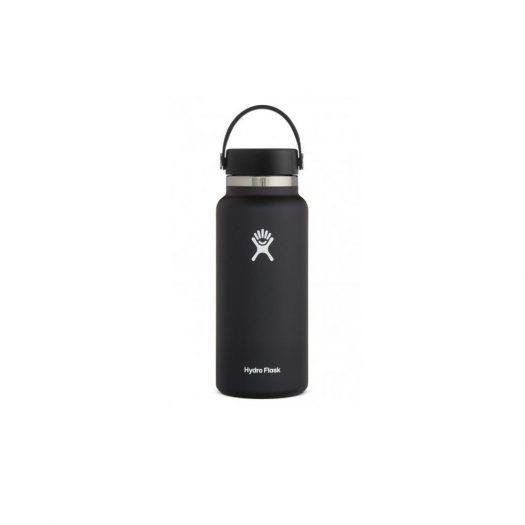 Vacuum Bottle with Wide Mouth, Black, 950ml
