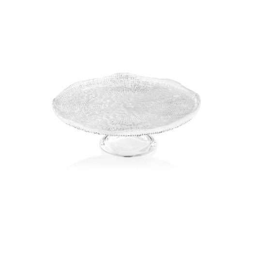 Diamante Clear Footed Cake Plate
