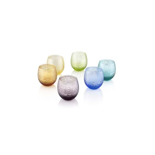 Multicolor Assorted Water Glasses