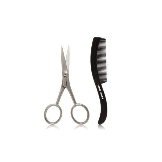 Gear Moustache Scissors and Comb Set
