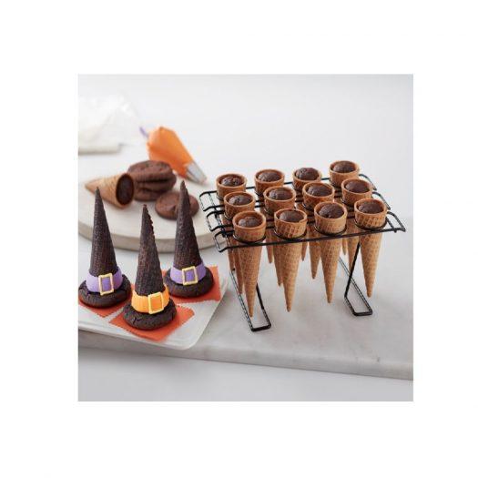Cupcake Cone Rack & Baking Cones, 12 cavities