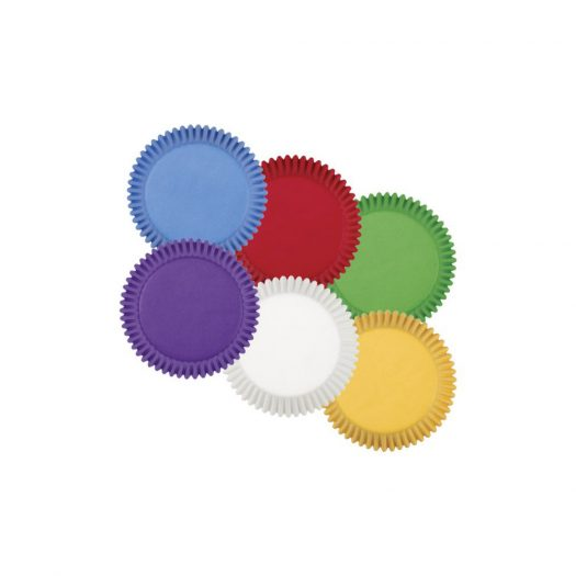 Rainbow Multi-Coloured Baking Cups, Standard size