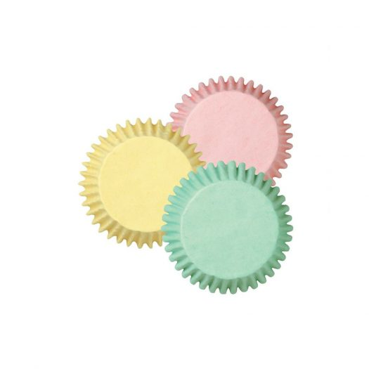 Assorted Pastel Colour Baking Cups, Mini
