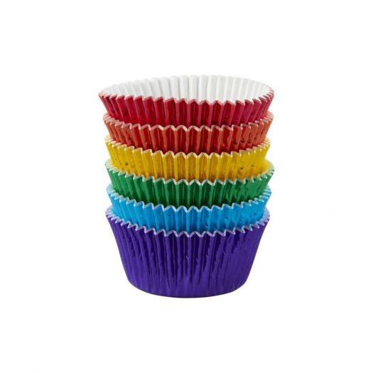 Rainbow Foil Baking Cups, Standard size
