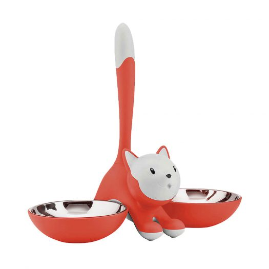 Tigrito Thermoplastic Resin and Stainless Steel Cat Bowl