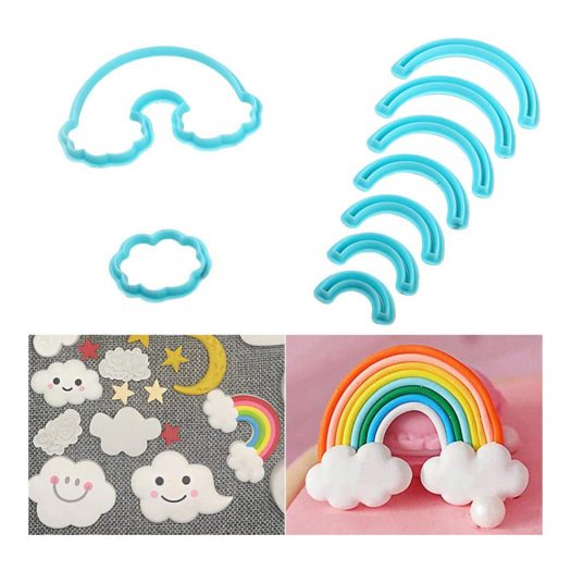 Rainbow and Cloud Cookie Cutter, Set of 2