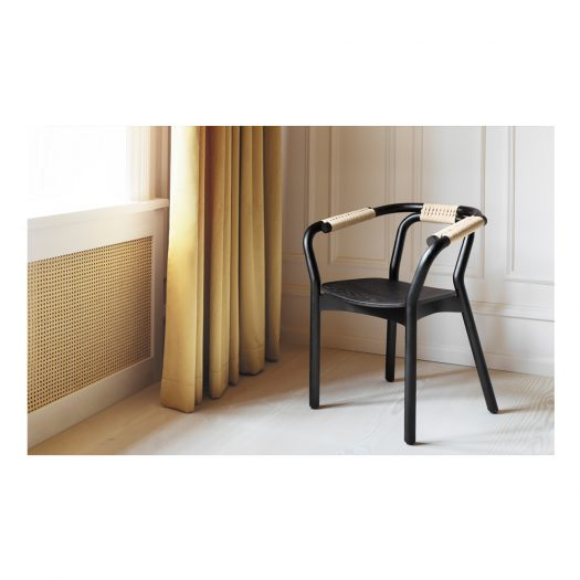 Knot Armchair Black and Natural