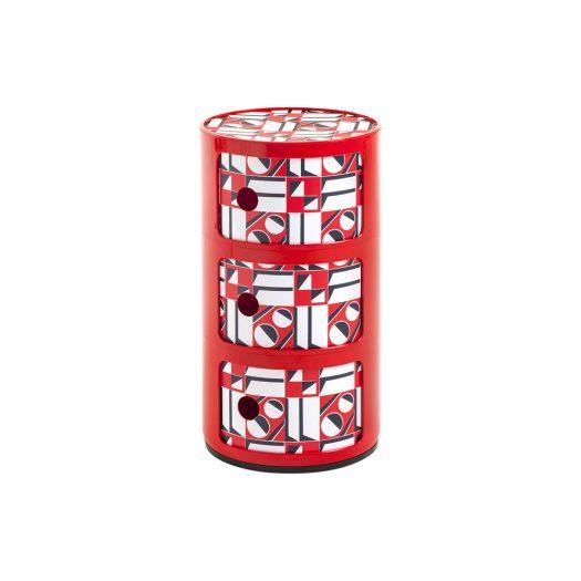 La Double J Componibili Red Geometric