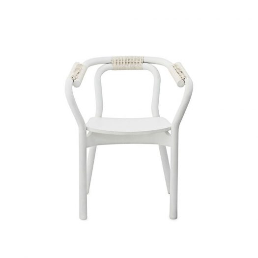 Knot Armchair White and White